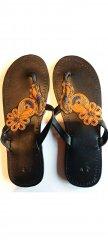Sandále oranžovo zlaté