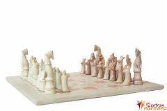 Šachy malé béžovo-růžové