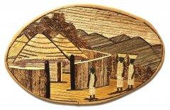 Dřevěný obrázek – motiv Afrika