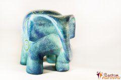 Moderní slon – velký modrý
