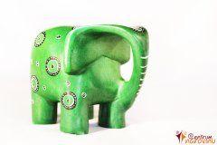 Moderní slon – velký zelený
