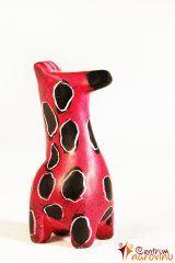 Soška žirafy růžová
