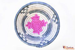 Mísa – provázek – malá modrá/natural/růžová