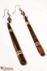 Náušnice dřevěné dlouhé