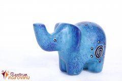 Soška slona modrá