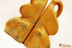 Zarážka na knihy oranžová s ornamenty