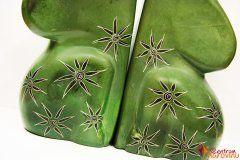 Zarážka na knihy zelená s ornamenty