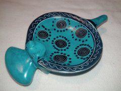 Miska hroch (menší) modrá (spirála)