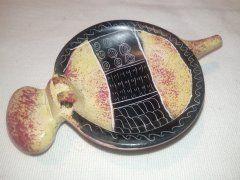 Miska hroch (menší) žlutooranžová (proužek)