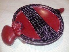 Miska hroch (větší) červená (proužek)