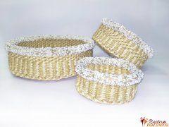 Set košíků s korálky