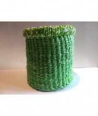 Košíček z rafie světle zelený