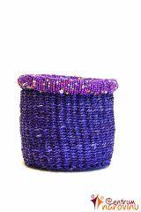 Košíček z rafie fialový