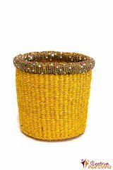 Košíček z rafie žlutý