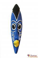 Maska dřevěná modrá