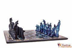 Šachy malé modro-černé