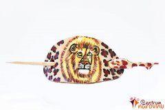 Spona do vlasů tělová s kresbou lva