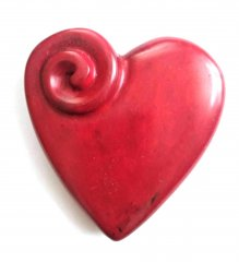 Srdíčko placka červené