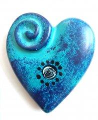 Srdíčko placka modré