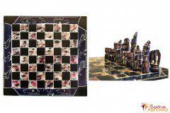 Šachy velké fialové s modrou